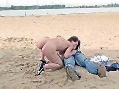 Beach Cumshots Handjobs