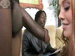Black and Ebony Facials Gangbang