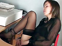 Fingering Secretaries Stockings Teen