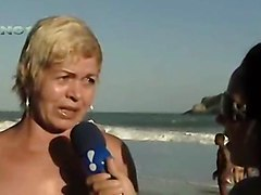 Beach Celebrities Flashing Brazilian