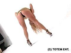 Blonde Lingerie Blonde Caucasian Glamour Lingerie Shaved Solo Girl Striptease