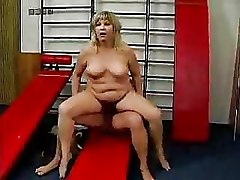 Doggy Style Granny Gym Riding