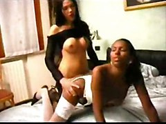 black shemale transexual anal ts ebony threesome