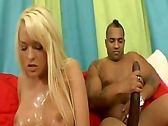 Big Cock Big Tits  Blondes Car Interracial