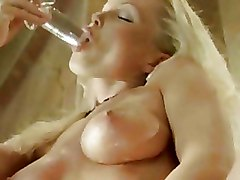 Erotica Glass dildos blonde softcore solo