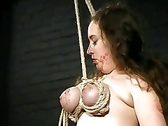 Amateur BDSM BDSM Waxing breast bondage breast whipping crying extreme bdsm slavegirl tit hanging tit torture