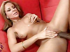 Big Cock Interracial blonde blowjob