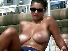 hidden camera spycam beach boobs