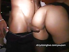 Doggy Style Interracial Milf Stockings
