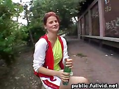 hardcore blowjob redhead public outdoors reality straight