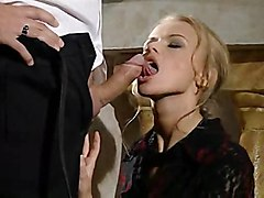 anal stockings cumshot facial blonde blowjob shaved fingering pussylicking