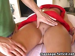 oiled blowjob brunette fingering deepthroat massage