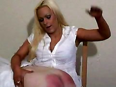 BBW British Spanking