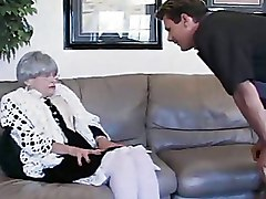 Granny Stockings blowjob older