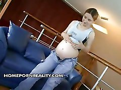 Amateur Homemade Pregnant blowjob