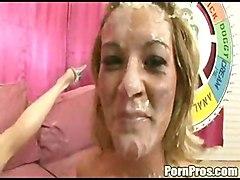 Group Creampie Big Cock Brunette Caucasian Cream Pie Cum Shot Pornstar Shaved Threesome Vaginal Sex