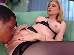 cumshot black cock interracial milf nina hartley