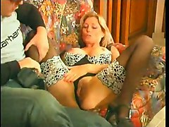 anal stockings cumshot blonde blowjob fingering sofa pussyfucking french