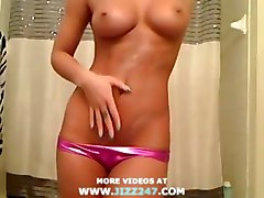 amazing tight body masturbates and cums webcam fuc
