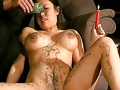 BDSM Waxing asian bdsm big tit bondage japanese slave kinky pain and pleasure