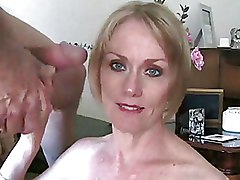 Blondes Mature blowjob older
