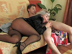 Milf  Stocking Sex  Mature Sex