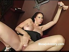 gloryhole blowjob hugetits hairy deepthroat busty
