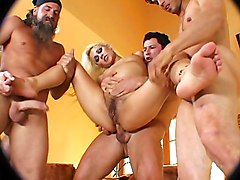Anal Group Gangbang Blonde Anal Sex Blonde Blowjob Caucasian Cum Shot Deepthroat Gagging Gangbang Hairy Oral Sex Piercings Swallow