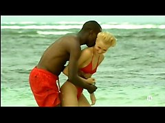 Beach Black and Ebony Blondes Interracial