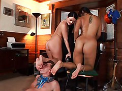 Blowjob Asian Group Asian Black-haired Blowjob Caucasian Fetish Footjob Masturbation Oral Sex Pornstar Rimming Stockings Threesome Kyanna Lee Sophie Dee