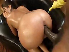oil oiled latina anal assfuck ass butt latin latino interracial bbc blackcock