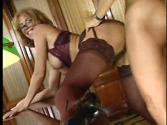 stockings cumshot hardcore blonde blowjob brunette groupsex pussyfucking