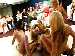 Group Caucasian Group Sex Party Striptease