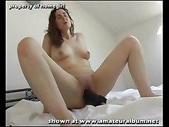 dildo brunette shaved amateur masturbation realamateur