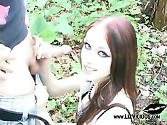 blow job fuck forest gothic girl