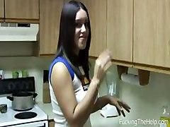 fuckingthehelp maid blowjob oral brunette sucking
