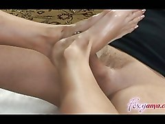 Foot Fetish Footjob anya cum feet foot foxy shot stroke sucking toes