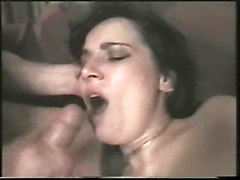 anal stockings cumshot facial gaping blowjob brunette threesome asstomouth