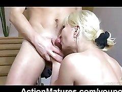 CFNM Mature blonde older
