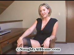 milf wife cougar garters stockings big tits cumshot blowjob doggystyle