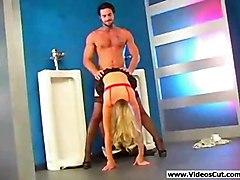 stockings cumshot pussy hardcore blonde blowjob doggiestyle pussyfucking