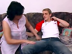 Mature Chubby Mom With Young Guy