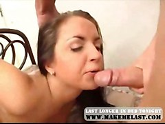 cumshot blowjob brunette threesome asstomouth doublepenetration doubleanal