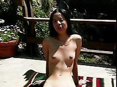 Asian Masturbation Asian Black-haired Masturbation Outdoor Shaved Solo Girl Vaginal Masturbation