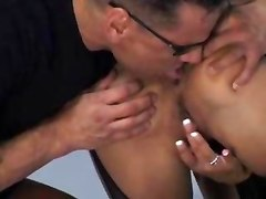 hardcore blowjob stockings facial leather