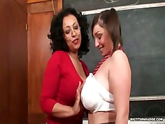 big tits chubby bbw teacher student