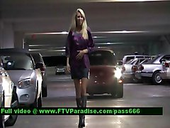 Brynn  From Ftv Girls  Splendid Blonde Babe Walking Through A Car Park