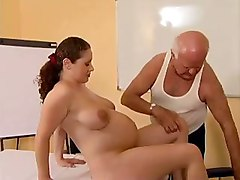 fetish pregnant big tits blowjob brunette handjob toys dildo