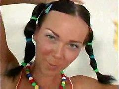 anal cumshot facial teen blowjob brunette smalltits asstomouth pussyfucking pigtail