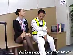 Maria Ozawa Slutty Asian Stewardess Gives Good Head
